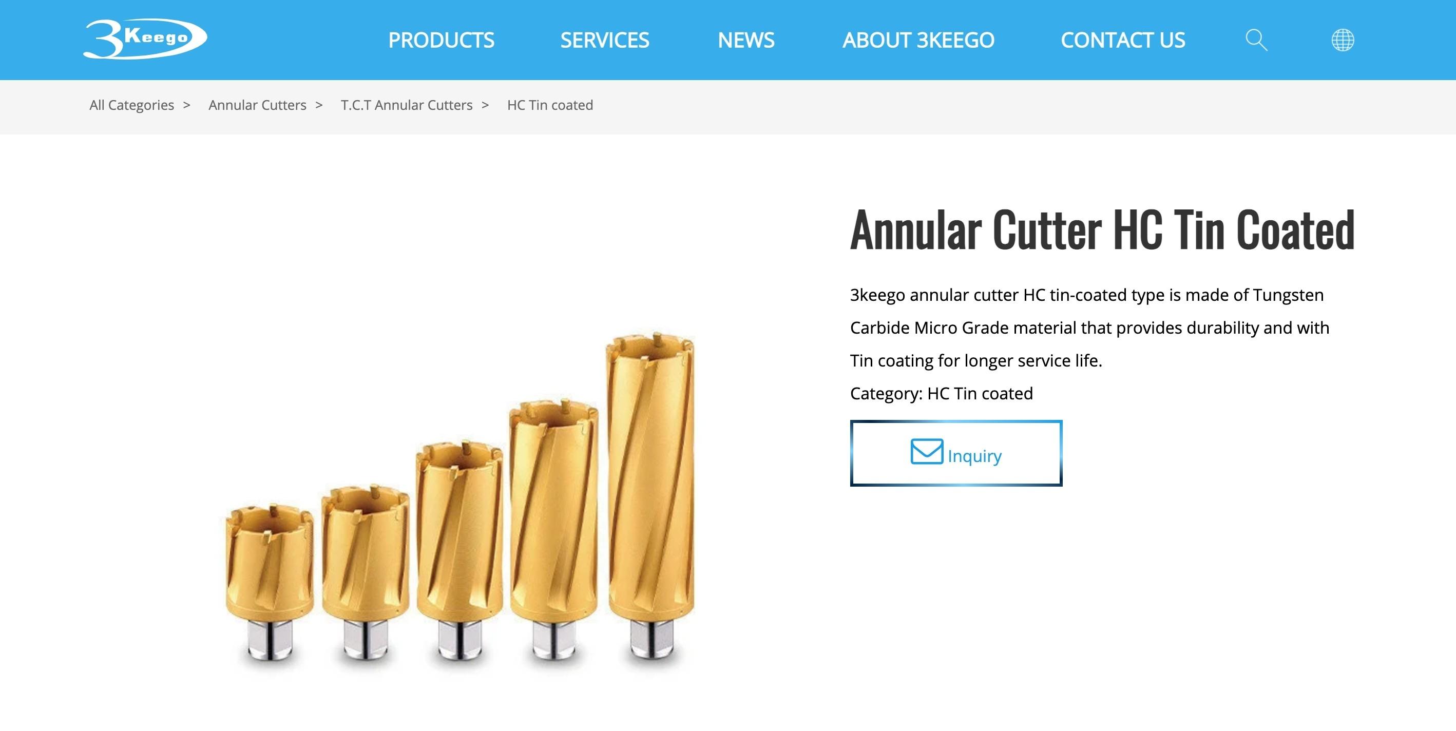 台中SEO網頁設計成功案例-產品頁設計|協正金屬3keego專業級鑽孔刀具製造廠