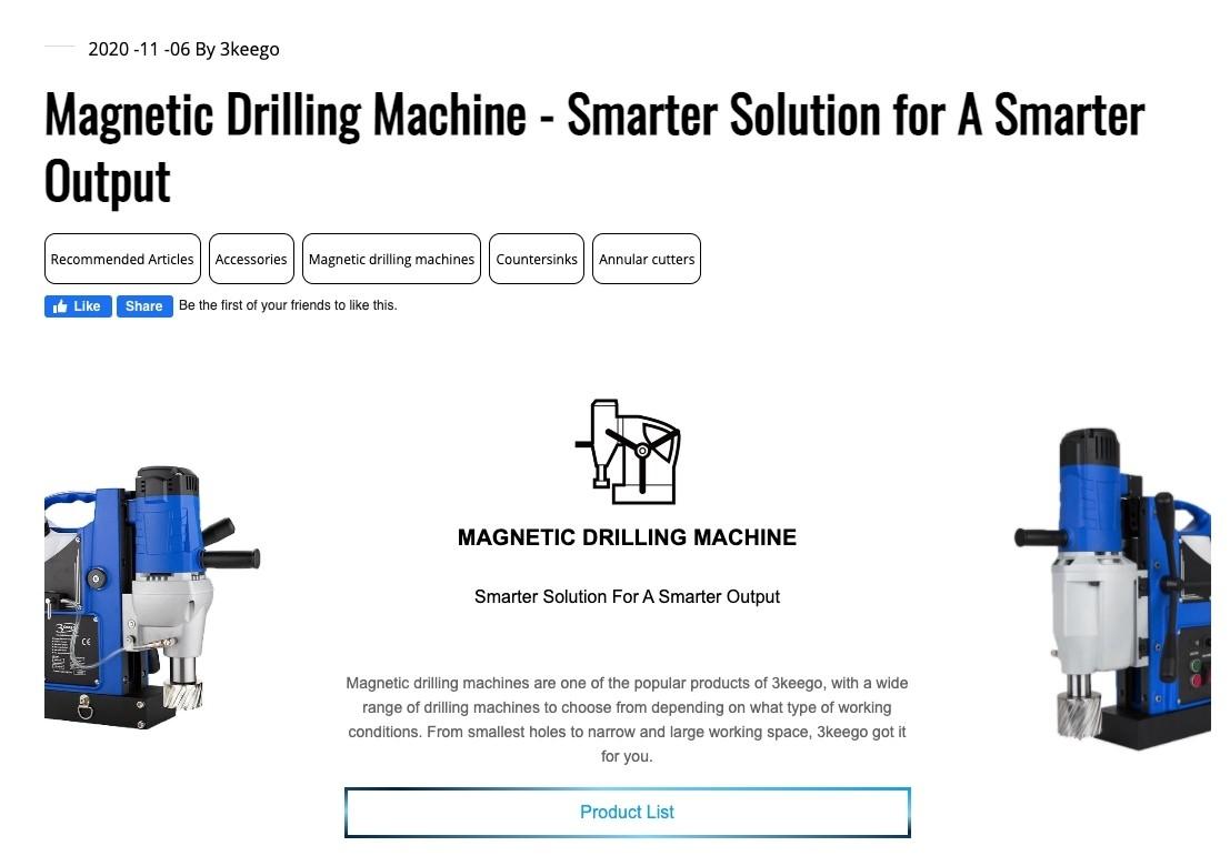 台中SEO網頁設計成功案例-部落格強調產品優勢|協正金屬3keego專業級鑽孔刀具製造廠