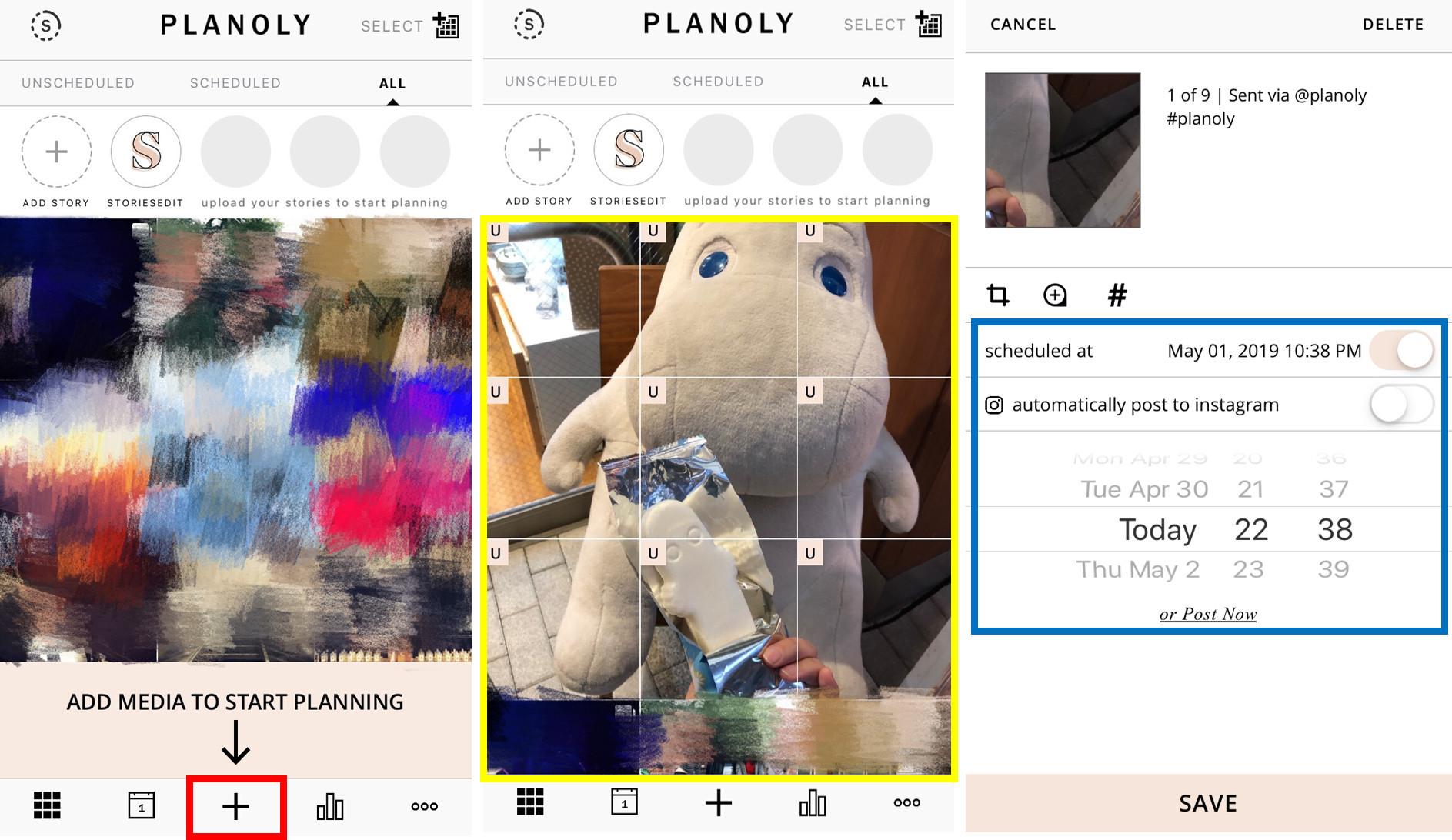 Planoly編輯頁面-鯊客科技SEO網頁設計公司