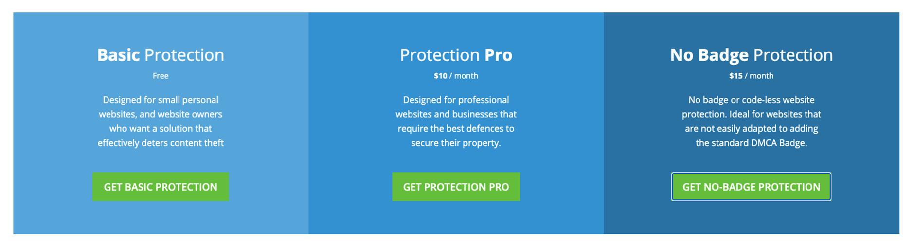 DMCA.com 免費及付費方案項目|鯊客科技 SEO 優化公司