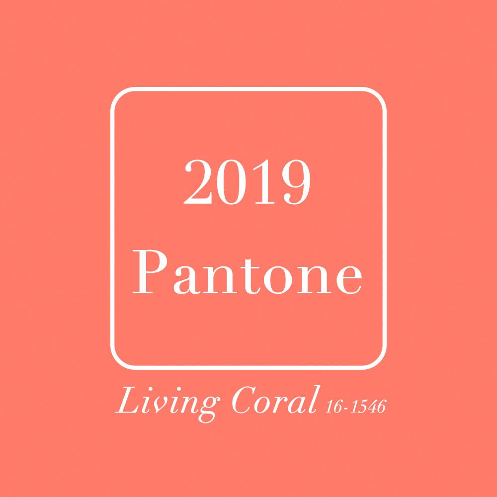 2019 Pantone代表色-活力珊瑚橘Living Coral 16-1546