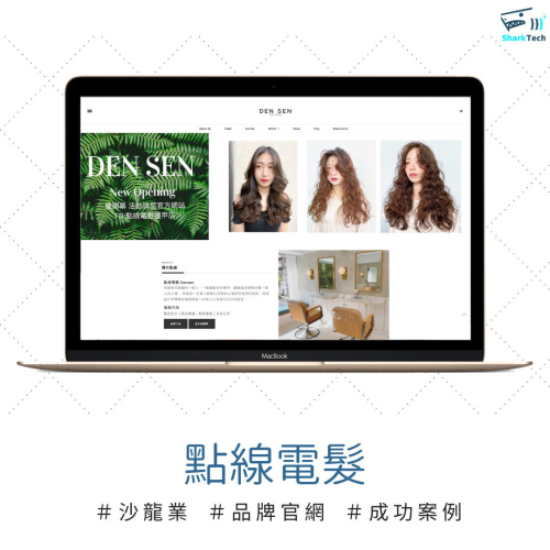 【SEO網頁設計成功案例】台中點線電髮