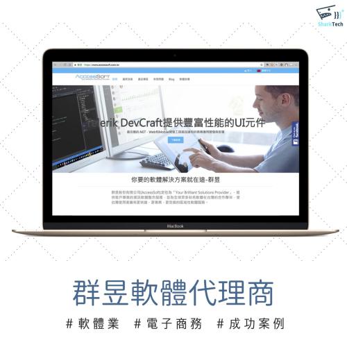 【SEO網頁設計成功案例】群昱AccessSoft