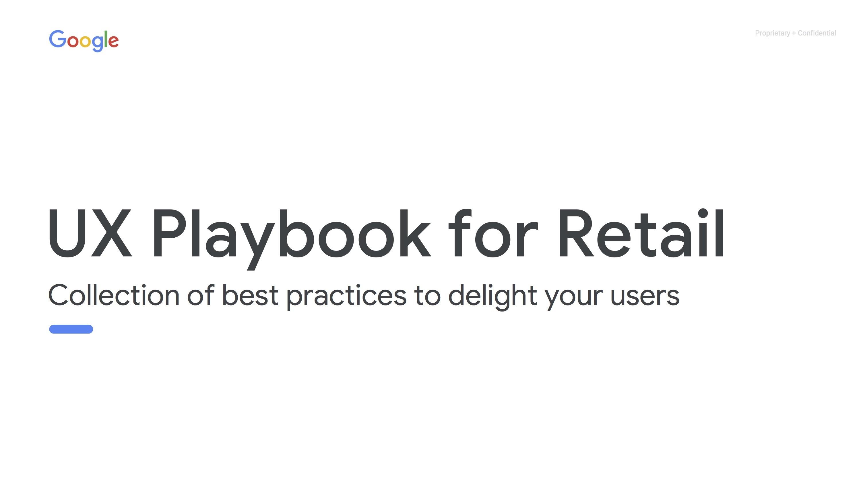 Google UX playbook for retail cover封面-鯊客科技網站SEO優化公司