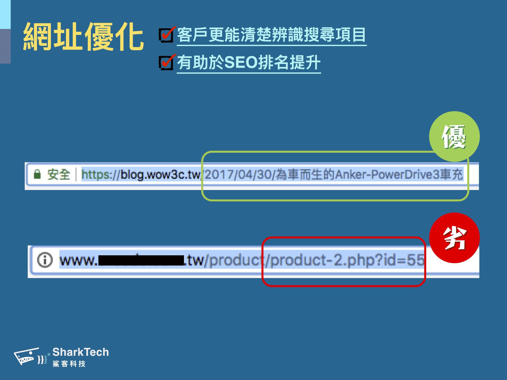 URL網址優化範例-鯊客科技