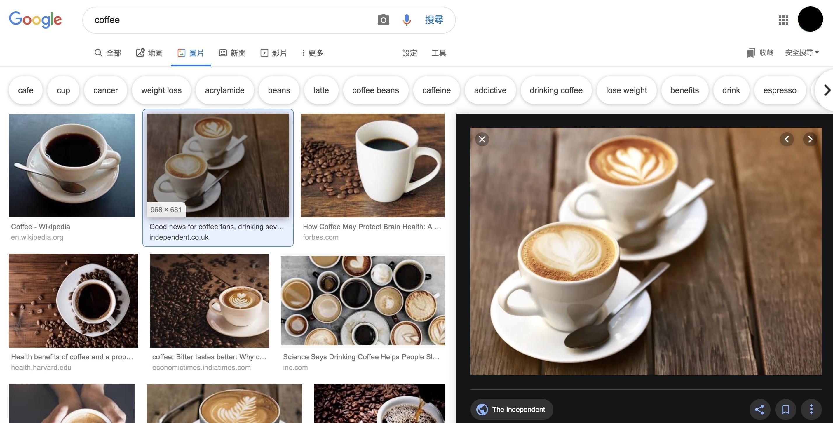 Google搜圖引擎-新版預覽窗格 鯊客科技SEO優化網路行銷公司